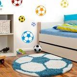 Voetbal vloerkleed Funny 6001 kleur Turquoise_