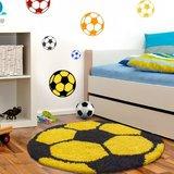 Voetbal vloerkleed Funny 6001 kleur Geel_