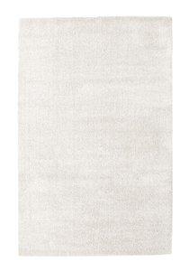 Wit hoogpolig vloerkleed of tapijt