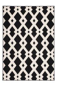tapijt zwart wit