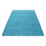 Turquoise effen vloerkleden