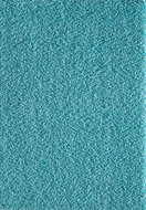 Hoogpolig effen vloerkleed Aqua