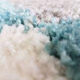 Hoogpolig vloerkleed Atlanta Shaggy Turquoise 381_