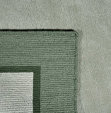 Handgeknoopt wollen vloerkleed Nepal Plus 9286 Groen_
