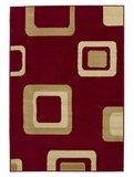 Vloerkleed Praxim kleur rood 2751_