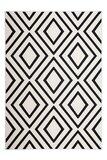 Zwart wit modern vloerkleed Ariadne _