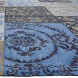 Vloerkleed Dalyan Patch Vintage Blauw_