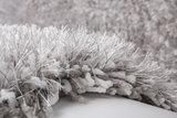 Handgemaakt hoogpolig vloerkleed Brasil Zilver Wit_