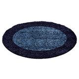 Blauwe hoogpolige vloerkleden Adriana Shaggy  1503/AY  _
