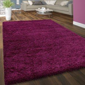 Hoogpolig vloerkleed Dorin 957 kleur Purple