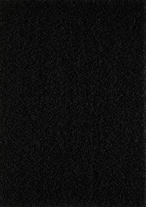 Zwart hoogpolig vloerkleed of karpet