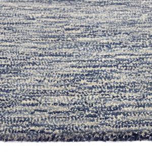 Wollen vloerkleed Wales blauw grijs