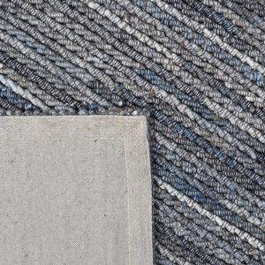 Vloerkleed gemaakt van 100% wol Cartier blauw