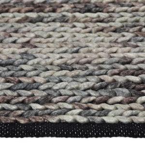 Vloerkleed gemaakt van 100% wol Barony bruin
