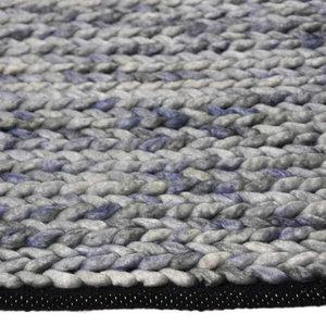 Vloerkleed gemaakt van 100% wol Barony blauw