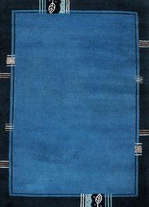 Wol tapijt Nepal Plus 92603 Blauw