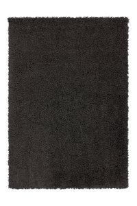 Zwart hoogpolig vloerkleed Rolly
