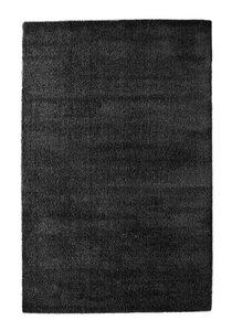 Zwart hoogpolig vloerkleed of tapijt