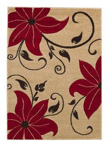 Karpet Victoria kleur beige rood OC15