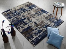 Viscose-met-bamboo-extract-vloerkleed-Awardo-649-Bruin-Blauw
