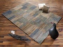 Nepal-zuiver-scheerwol-vloerkleed-Tradition-zilver-grijs-C35