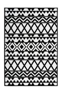 Zwart wit vloerkleed