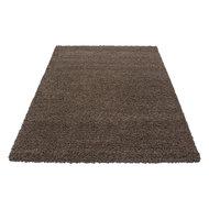 bruine hoogpolige vloerkleden, karpetten en tapijten