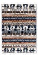 Blauw Oosters vloerkleed, tapijt of karpet