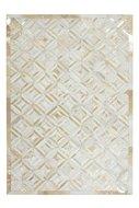 Lederen-vloerkleed-Denise-Ivoor-met-metaalfolie