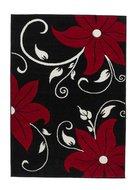 Vloerkleed-aanbieding-Victoria-kleur-zwart-rood-OC15