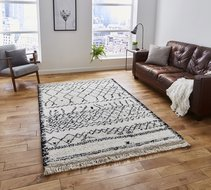 Vloerkleed-Cottage-5402-kleur-Zwart-Wit